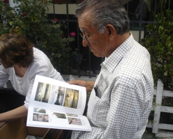 Ramon Vera with his Book Geology of Ecuador